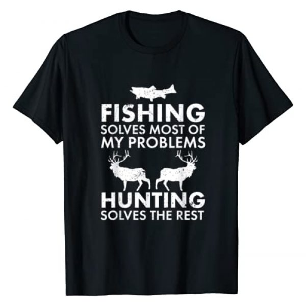 Cool Fishing and Hunting Shirts for Hunters Graphic Tshirt 1 Funny Fishing And Hunting Gift Christmas Humor Hunter Cool T-Shirt