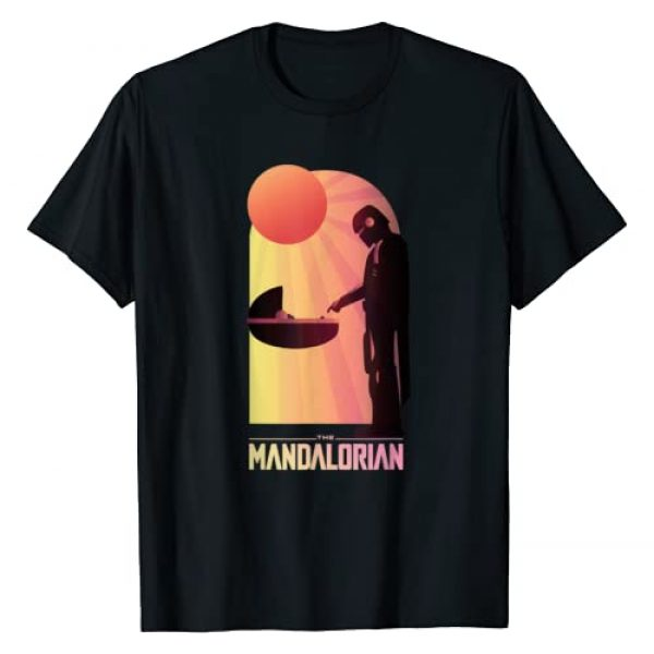Star Wars Graphic Tshirt 1 The Mandalorian The Child Sunset Meeting T-Shirt