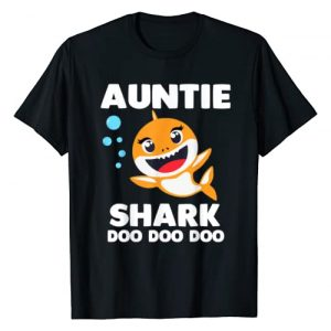 SHARK FOR FAMILY Graphic Tshirt 1 Auntie Shark Shirt Doo Doo Uncle Mommy Daddy Aunt T-Shirt