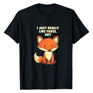 Fox Graphic Tshirt 1 Funny Fox T-Shirt I Just Really Like Foxes Ok Tee
