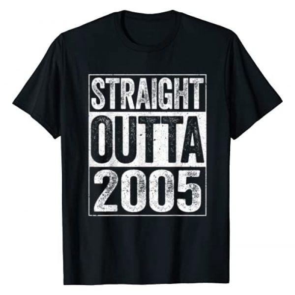 Straight Outta 2005 Tees Graphic Tshirt 1 Straight Outta 2005 T-Shirt 15th Birthday Gift Shirt T-Shirt