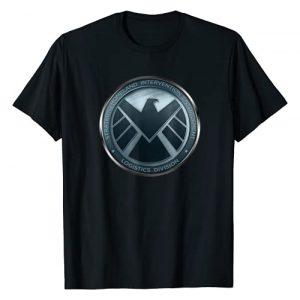 Marvel Graphic Tshirt 1 Agents of S.H.I.E.L.D. Eagle Shimmer Badge T-Shirt