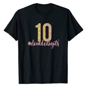 10th Birthday Tees NYC Graphic Tshirt 1 10th Birthday Shirt Double Digits Girls Ten 10 Pink Glam T-Shirt