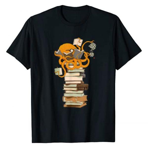 Dog eat Doug Graphic Tshirt 1 Reading Octopus, tea, coffee and books gift T-Shirt