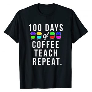 100 Days of School Co. Graphic Tshirt 1 100 Days of School Gift For Teachers Who Love Coffee T-Shirt