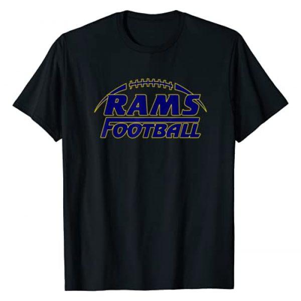 """EAST COAST DESIGNS NC Graphic Tshirt 1 """"RAMS"""" """"FOOTBALL"""" T-Shirt"""
