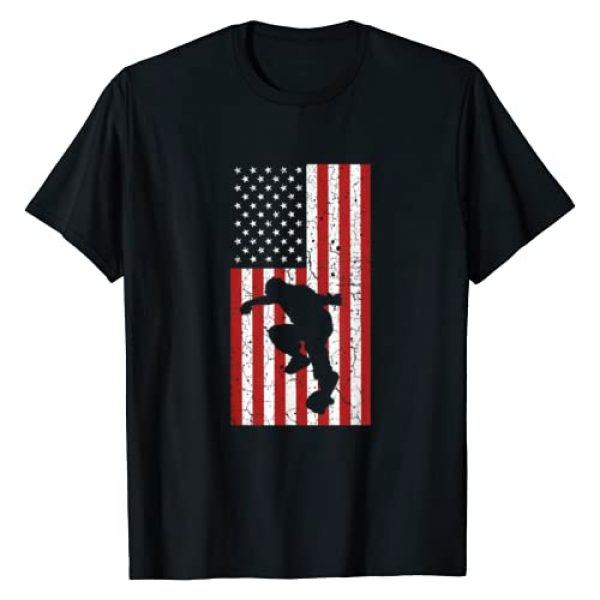 Skateboarding 365 Graphic Tshirt 1 Skateboard US Flag Skater Gifts Skate Boarding For Men Boys T-Shirt