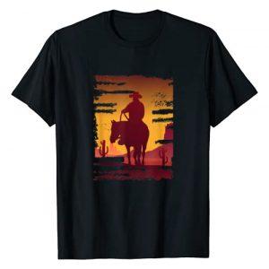 Retro Vintage Cowboy Gift design By Inoashop Graphic Tshirt 1 Saddle western cowboy print Retro Vintage Western Sunset T-Shirt