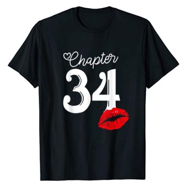 Women Lips Chapter Birthday Gift Tee Graphic Tshirt 1 Womens Chapter 34 Years 1986 34th Happy Birthday Lips T-Shirt