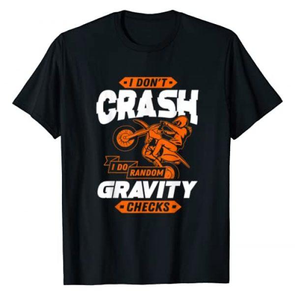 Funny Dirt Bike & Motocross Shirts Graphic Tshirt 1 Random Gravity Checks - Motocross & Dirt Bike T-Shirt