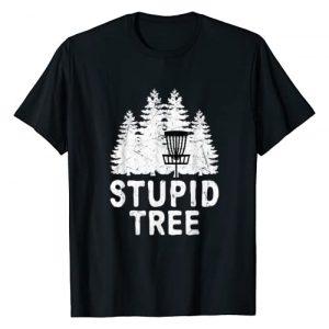 Funny Disc Golf Stupid Tree Frisbee Golf T-Shirt Graphic Tshirt 1 Funny Disc Golf Stupid Tree Distressed Frisbee Golf T Shirt