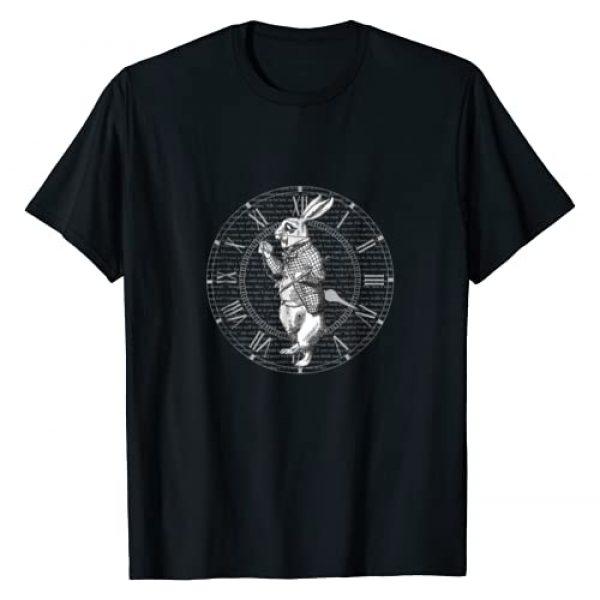 Alice In Wonderland Lovers Shirt Graphic Tshirt 1 White Rabbit Vintage Clock Steampunk T Shirt