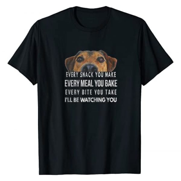 Every Snack You Make, I'll Be Watching, By Yoray Graphic Tshirt 1 Every Snack You Make, I'll Be Watching, Dog Theme T-Shirt