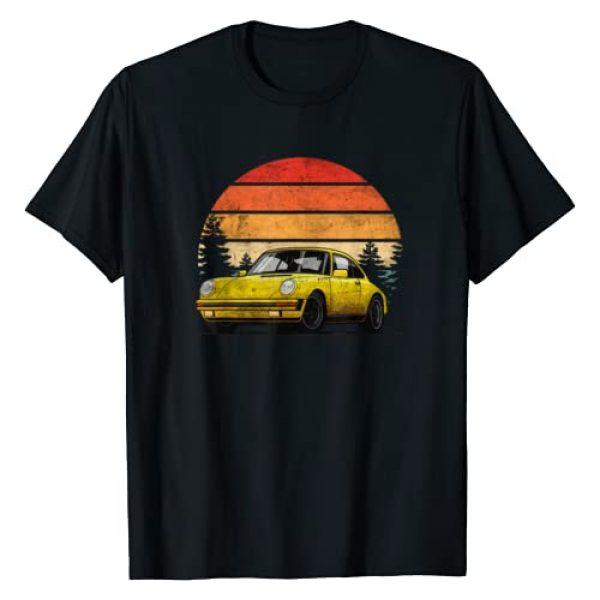 Retro Vintage Car Apparel Graphic Tshirt 1 Retro Sun w Tuning & Gaming Oldtimer Car Enthusiast Sunset T-Shirt