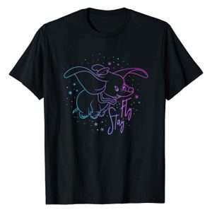 Disney Graphic Tshirt 1 Dumbo Stay Fly Outline T-Shirt
