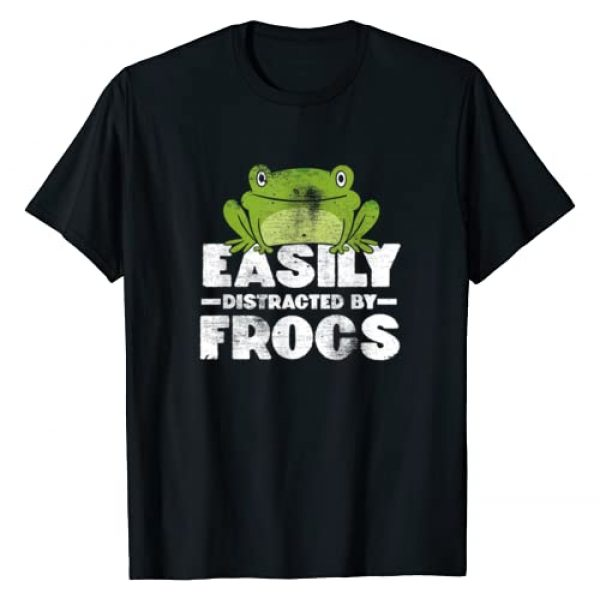 Frog Merch Co Graphic Tshirt 1 Easily Distracted By Frogs Frog Lover Gift T-Shirt