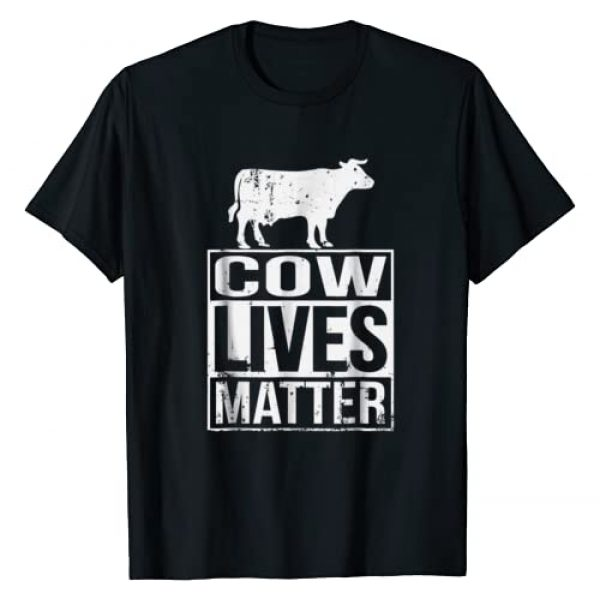 Unknown Graphic Tshirt 1 Cow Lives Matter Shirt