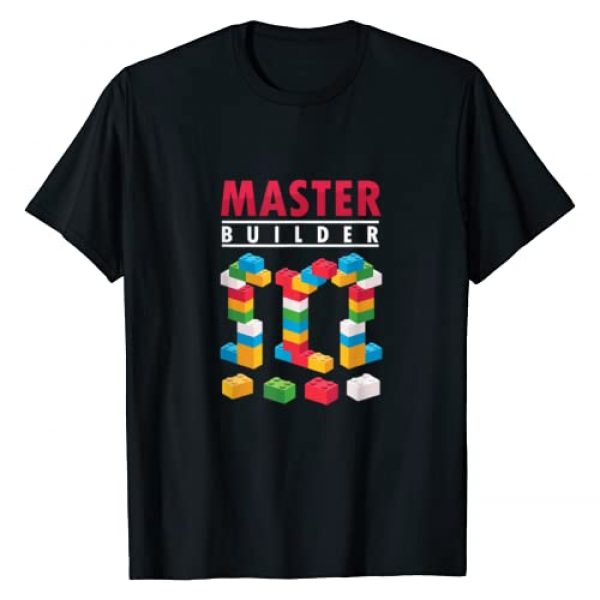 Cool Master Builders Bricklayer Engineer Graphic Tshirt 1 Cool Master Builder Building Blocks Bricks Toy Gift T-Shirt