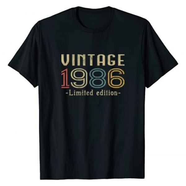 Vintage 1986 . Graphic Tshirt 1 Vintage 1986 34th Birthday 34 Years Old Gift T-Shirt