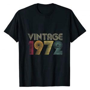 Vintage Birthday Gifts Retro Graphic Tshirt 1 48th Birthday Gifts Year Old - Vintage 1972 T-Shirt