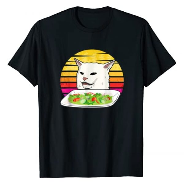 funny trending dank meme internet Graphic Tshirt 1 Angry women yelling at confused cat at dinner table meme T-Shirt