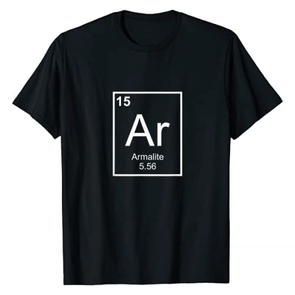 2Apparel Graphic Tshirt 1 Armalite AR-15 Periodic Table of the Elements T-Shirt