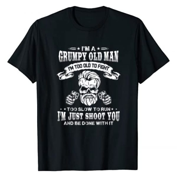 Gift for Husband and Wife matching Graphic Tshirt 1 I'm a grumpy old man I'm too old to fight too slow to run T-Shirt