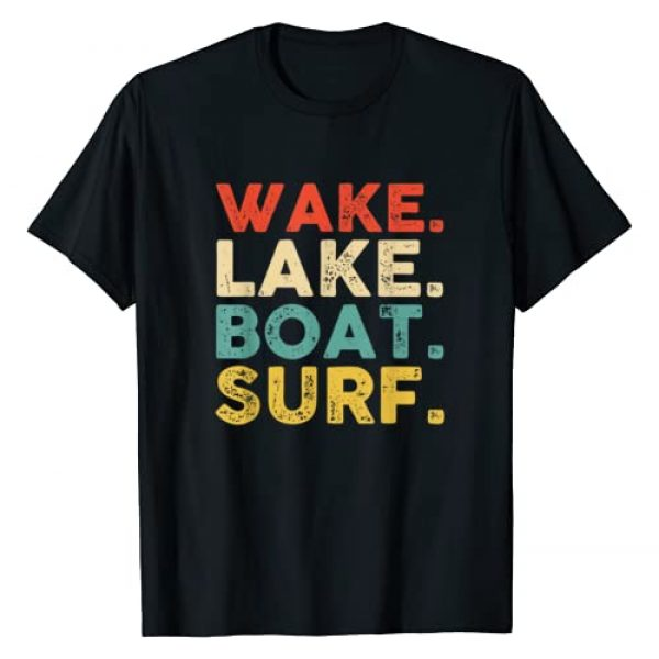 Wake Surfing Artwork Men Womenn Kids Graphic Tshirt 1 Wake Surfing Wake Surf Wake Surfing Rope Wake Surfboards T-Shirt