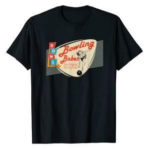 Bowling team funny graphic designs Graphic Tshirt 1 Bowling Babes vintage retro matching bowling team shirt
