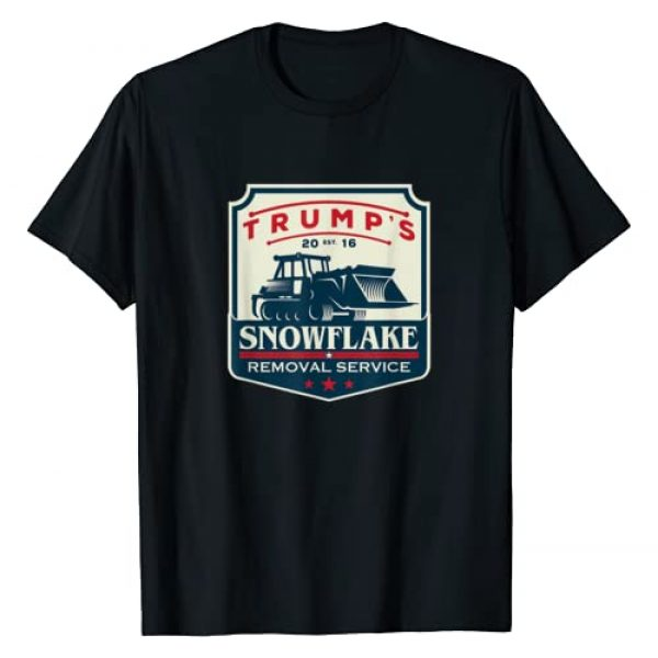 Trump 2020 Presidential Election Gifts Graphic Tshirt 1 Trump's Snowflake Removal Service - Funny Donald Trump 2020 T-Shirt