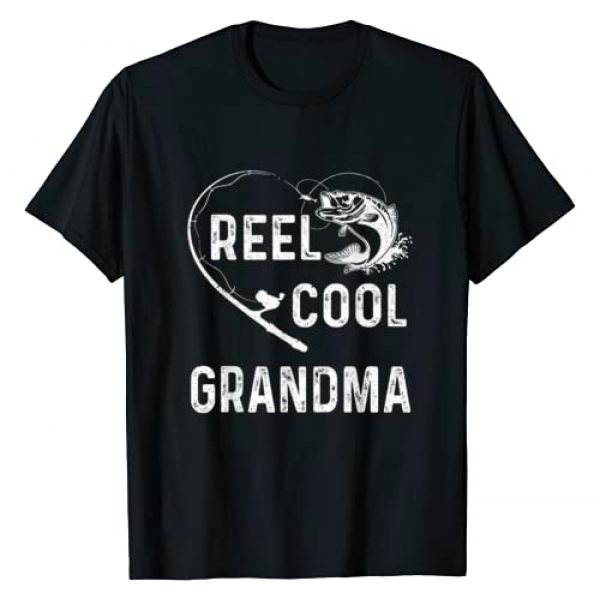 Reel Cool Grandma T-Shirt Father's Day Gifts Women Graphic Tshirt 1 Reel Cool Grandma T-Shirt Fishing Lover Gift For Fathers Day