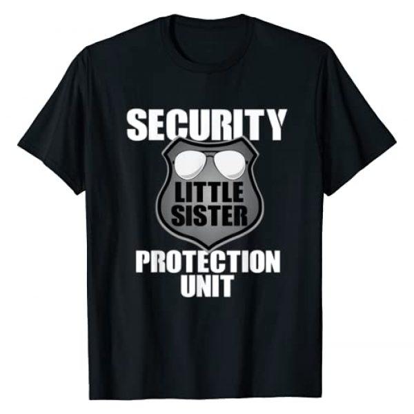 Little Sister Security Toddler Gift Graphic Tshirt 1 Little Sister Security T Shirt Big Brother Protection Gift
