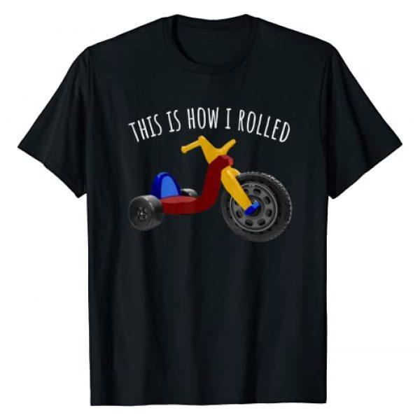 Vintage Retro 70's 80's T-Shirts Clothing & Gifts Graphic Tshirt 1 Nostalgic Love 70s 80s Vintage Retro Toys Big Tricycle Wheel T-Shirt