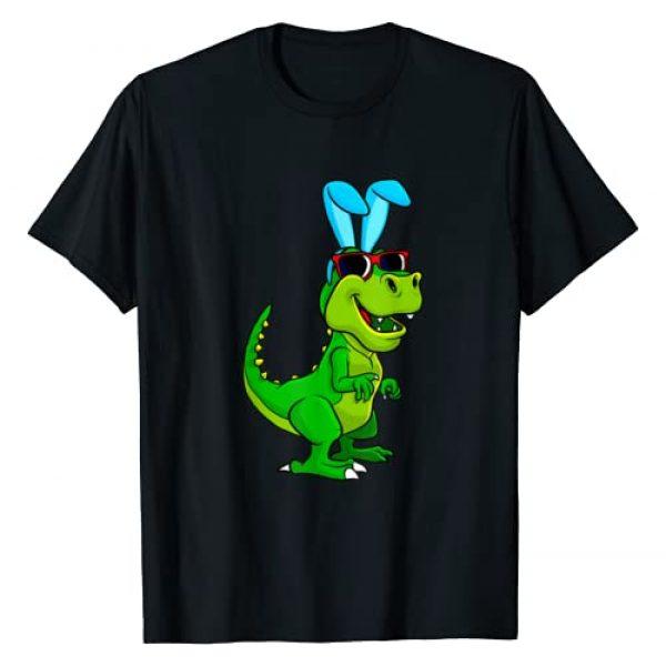 Easter Time Gift Graphic Tshirt 1 T Rex Easter Bunny Dinosaur Lover Boys Girls Kids T-Shirt