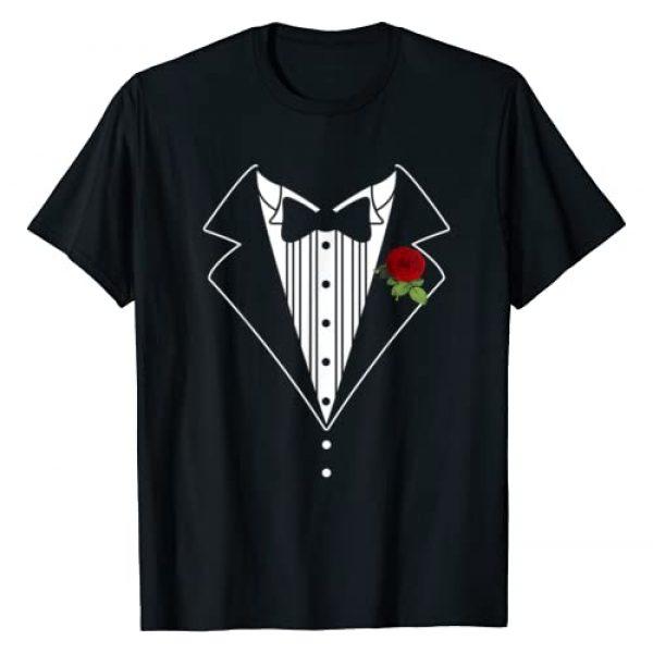 Funny Shirts JG Graphic Tshirt 1 Funny Tuxedo shirt Wedding Shirt Fake Tux Bachelor Prom T-Shirt