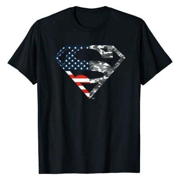 DC Comics Graphic Tshirt 1 Superman American Flag Camo Logo T-Shirt