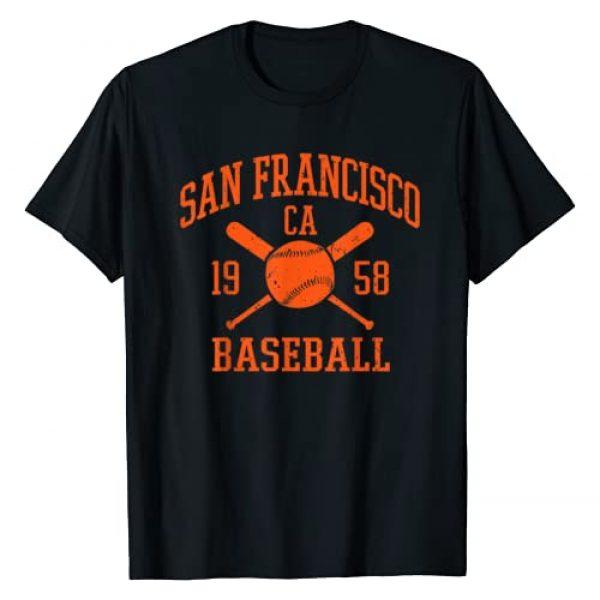 SFVintageBaseballGiftsCo. Graphic Tshirt 1 San Francisco Baseball Vintage SF The City Gift T-Shirt