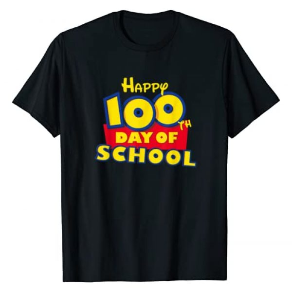 100th Day of School T Shirt Shop Graphic Tshirt 1 Happy 100th Day of School Toy Cartoon for Teacher or Student T-Shirt