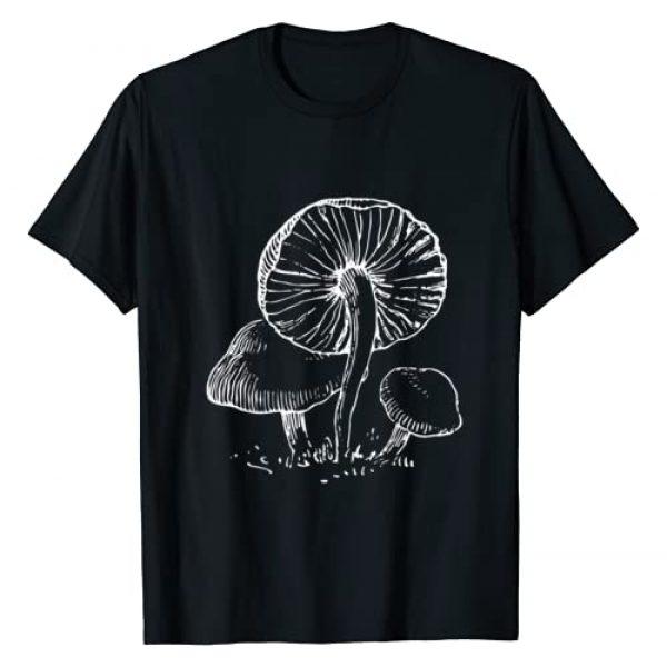 Bohemian Botany Tees Graphic Tshirt 1 Stylish Wild Mushrooms Shirt Cute Mycology Fungi T-Shirt