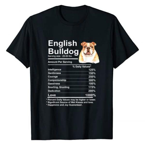 English Bulldog Gifts lover Collection by IR&A Graphic Tshirt 1 English Bulldog Facts Gift Funny English Bulldog mama T-Shirt