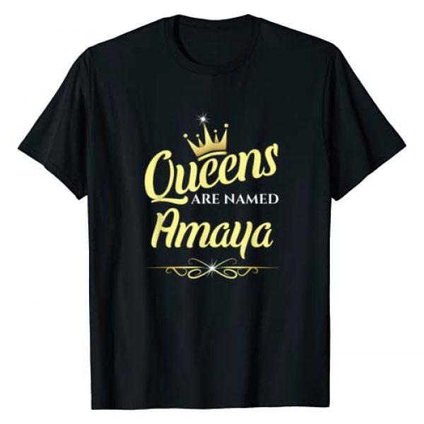 Amaya Name Custom Tee - Queens are Named Amaya Graphic Tshirt 1 Queens Are Named Amaya T-Shirt