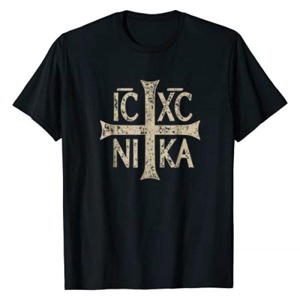 Orthodox Christian Tees Graphic Tshirt 1 IC XC NIKA Cross Christogram Orthodox Christian T-Shirt