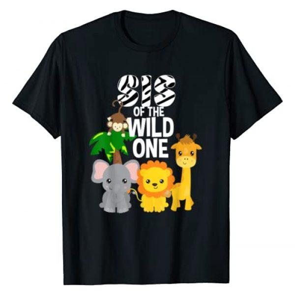Safari Animals Birthday Party Shirts 205 Graphic Tshirt 1 Sis of the Wild One Zoo Theme Birthday Safari Jungle Animal T-Shirt