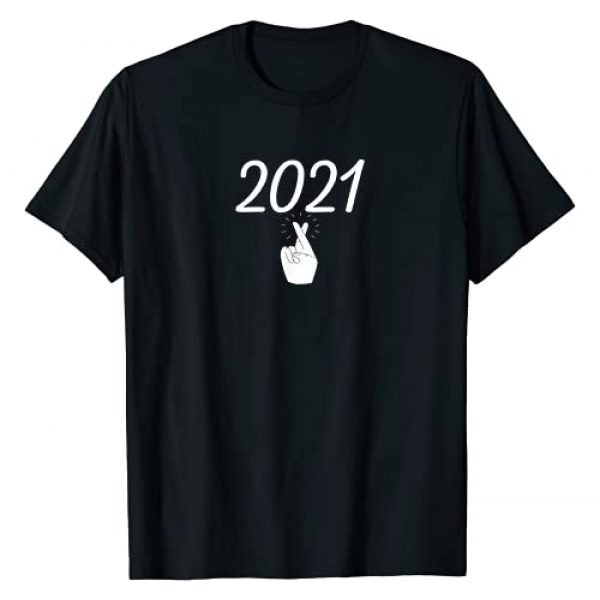 Funny Happy New Year 2021 Tees Graphic Tshirt 1 Funny Happy New Year 2021 Fingers Crossed 2021 New Year T-Shirt
