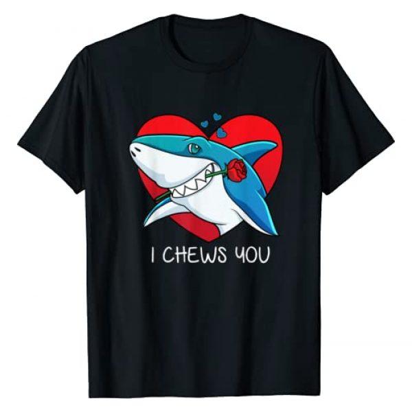 Nerd Ninja Graphic Tshirt 1 I Chews You Great White Shark Valentines Day T-shirt T-Shirt