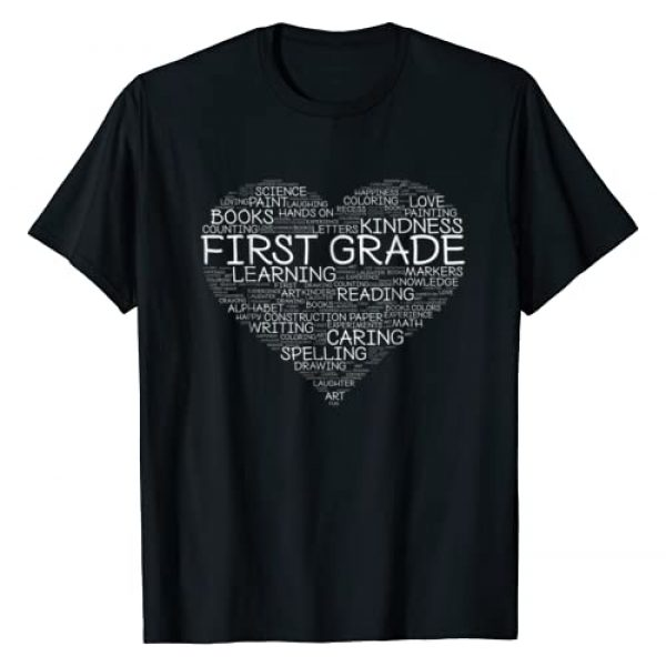 Keep It School Graphic Tshirt 1 First Grade Teacher - Heart T-Shirt
