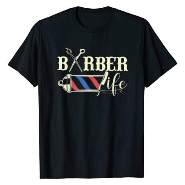 Fresh Fade Lifestyles Graphic Tshirt 1 Barber Life Pole Scissors Blade Vintage Shop Gift for Him T-Shirt