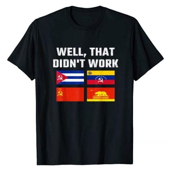 Think Right Graphic Tshirt 1 Socialism Doesn't Work Anti Socialism T-Shirt