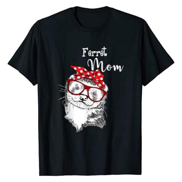 Ferret Mom Shirt Gifts Graphic Tshirt 1 Womens Ferret Mom Lover T-Shirt