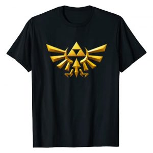 Legend of Zelda Graphic Tshirt 1 Nintendo Zelda Hyrule Crest Iconic Golden Triforce T-Shirt